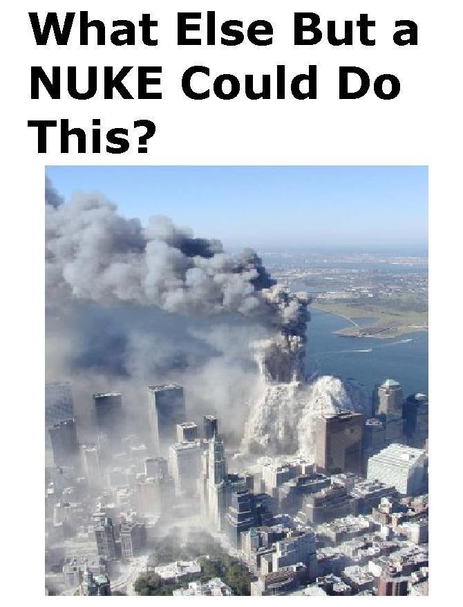 彼らはWTCで核を使った...........ここがウォール街の暗黒勢力の唯一のアキレス腱です。