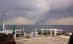 「東京湾で人工地震が使われたと思われるデータ 浮島の位置に注目。海底から黒煙が出てる」