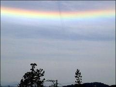 『爆心地』あたりで逆さ虹?ハザール金融悪魔さんたち、また何かやらかしましたか?