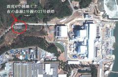 夜の森線2号線の27号鉄塔は原発のすぐ傍にあるのですね。
