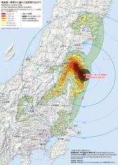 陸前高田のセシウム薪:この地図の汚染状況をみれば 陸前高田の汚染松はそれ程不自然では無い?