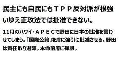 TPP 既成事実化しておいて APECでどさくさまぎれに「参加表明」?