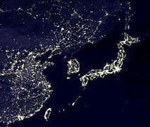 北朝鮮の夜