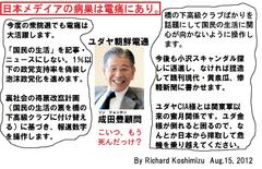 日本メディアの病巣は電痛にあり。