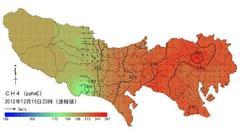 東京でメタン濃度が急上昇?