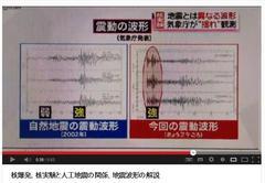 大日本CIAテレビのニュースで、気象庁が「人工地震と自然地震の波形の違い」を解説。