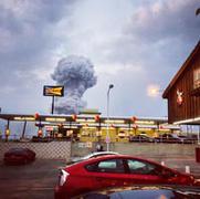 テキサス爆発:「核爆発のようなキノコ雲」「マグニチュード(M)2.1の地震が発生」