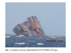 商船三井の真っ二つコンテナ船