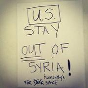 シリア侵略に反対するマドンナ直筆