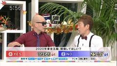 テレビ報道:57%が2020東京オリンピックに反対。