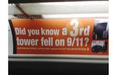 911内部犯行:この看板がロンドン中に氾濫している模様です。
