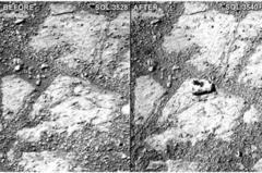 だーかーらー偽火星探査のロケ現場の核実験場跡で、鳥かなんかが石を掴んで落としたんでしょ、