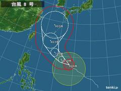『台風8号、記録的エネルギーチャージで発達!影響は〇曜日』