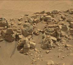 火星には水があるそうです。