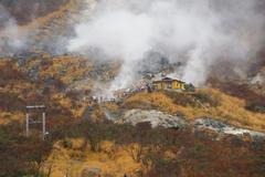 前触れ】 箱根、大涌谷の噴煙が見たこともないほど激しくなっているらしい…