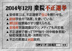 今週末、12月13日(土)は、衆院不正選挙投票日直前のRK大阪講演会です!
