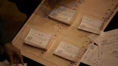 自民も民主も似たような筆跡の票ばかりだった。