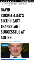 デビル・ロックフェラー99歳が6回目の心臓移植とは本当でしょうか?