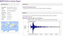 ↓今回の小笠原地震の波形であるそうです。