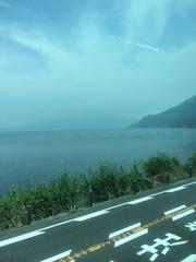今日の桜島。火山灰で見えません。