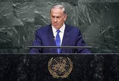 イスラエル首相 国連総会で44秒無言でにらむ