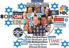 米国のメディアは米国1%金融ユダヤ人により経営されています。